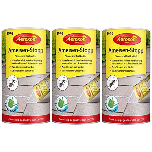 Aeroxon Ameisen Stopp Streu- und Gießmittel 300g, 3er Pack (3X 300g)