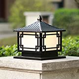 Chao Zan Lámpara de Sobremuro Exteriores Aluminio Luces de Pedestal Moderno Lámpara de Exterio Lámpara de Jardín Impermeable Lámpara de Pie Exterior metal, E27 Patio Caminos porche césped villa