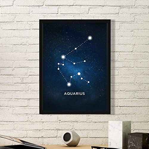 DIYthinker Aquarius sterrenbeeld Zodiac Teken Eenvoudige fotolijst Kunst Prints Schilderijen Thuis Muursticker Gift