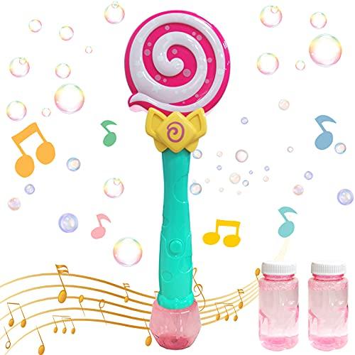 TaimeiMao Máquina de Burbujas,Niños Maquina Pompas Jabon,Portátil Máquina de Burbujas,Maquina Pompas Jabon con solución de jabón,Soplador de Pompas Jabon,Juguetes Burbujas para Niños (Rojo)