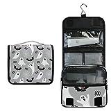 LZXO Bolsas de Aseo de Viaje para Colgar, diseño de murciélago, Neceser de Maquillaje, portátil, Organizador de cosméticos con Cremallera Impermeable para Mujeres, niños y Hombres