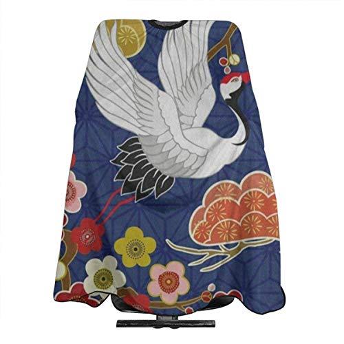 Robe De Coupe De Cheveux Cherry Blossom Bird Sakura Japanese Barber Cape Unisexe Jolie Coiffeur Tablier Léger Coupe De Cheveux Tablier Teinture Tissu Salon Adulte Réutilisable Poly