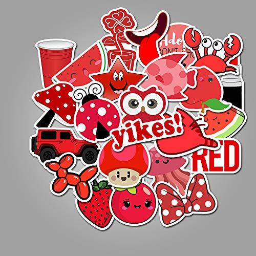 nobrand 50In Den Roten Winter Kleine Frische Graffitiaufkleber Personalisierte wasserdichte Aufkleber des Gepäcklaufkatzewasserglas-Skateboards