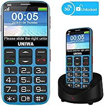 Mosthink Unlocked Cell Phones for Seniors, Compatible AT&T Cell Phone for Elderly, SOS Basic Phone for Seniors with Big Button Big Volume, Charging Dock Included