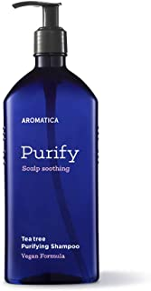 AROMATICA Tea tree Purifying Shampoo 900ml / 30.43oz, Jumbo Size, Vegan, Silicone Free, Sulfate Free, Vegan, Fights Oily S...