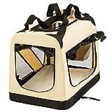 "TecTake Faltbare Hundetransportbox Transportbox beige 50x35x35cm ""S"" - 3"
