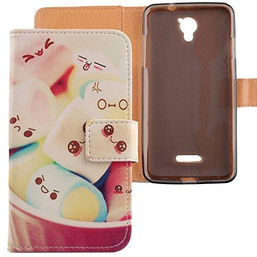 Lankashi PU Flip Leder Tasche Hülle Hülle Cover Schutz Handy Etui Skin Für CoolPad E501 Modena 5.5