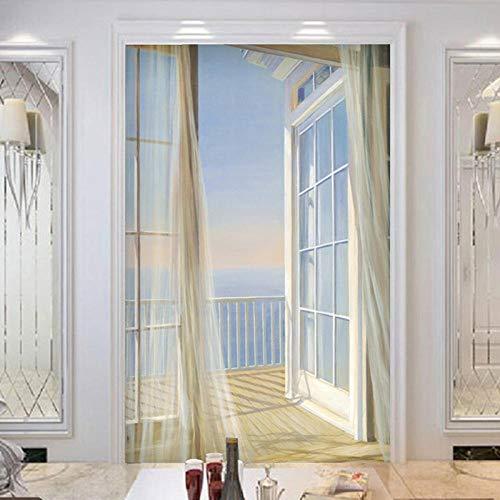 Benutzerdefinierte Tapete 3D Erweitern Raum Balkon Landschaft Moderne Kreative Kunst Wandbild Eingang Korridor Hintergrund Fototapete 430x280cm