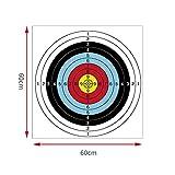 Caras de Tiro con Arco, 10 Piezas Objetivos de Tiro con Arco Papel Cara Flecha Arco Papel de Tiro para Entrenamiento de práctica de Caza
