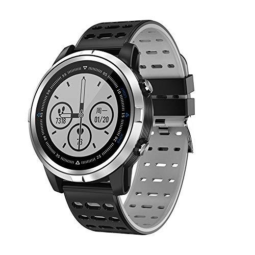 Smartwatch, GPS Motion Track, wasserdicht, Multi-Sport-Modus, Vollbild-Touch, ultra-langer Ausdauer, professioneller Algorithmus, geeignet für Laufen, Fitness, Studenten, Business (Farbe: Silbergrau)