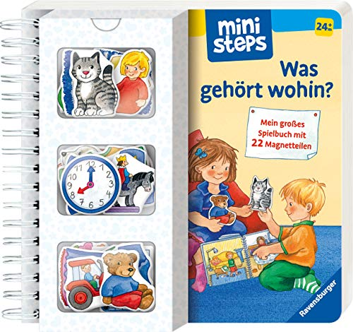 ministeps: Was gehört wohin?: Mein großes Spielbuch mit 22 Magnetteilen. Ab 24 Monaten (ministeps Bücher)
