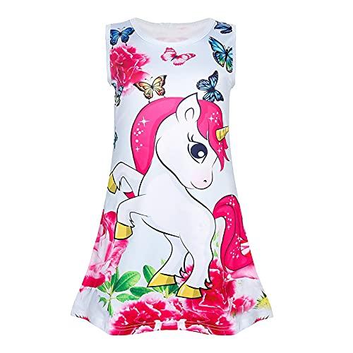 Agoky Vestidos de Unicornios para Niñas Camisón de Algodón Pijama Niña sin...