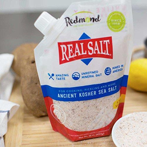 Redmond Real Sea Salt – Organic Kosher, 16 Ounce (2 Pack)