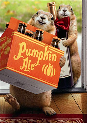 Avanti Prairie Dogs Deliver Ale Funny/Humorous Thanksgiving Card