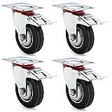 Ruedas de transporte con freno, ruedas de carga pesada, Φ100mm 4x With Brake