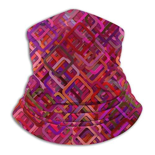 geckor Muster Mosaik Sternenhimmel Gesichtsschutz Hälfte Gesicht Mikrofaser Halswärmer