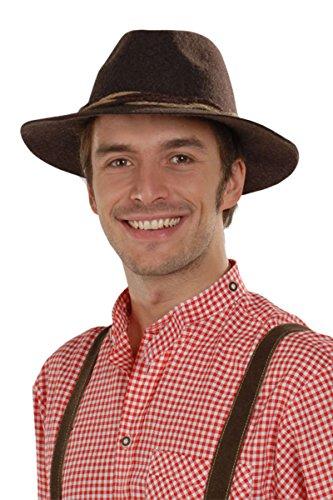 Faustmann Hüte Herren Tiroler Hut braun 'Willi', braun, 58