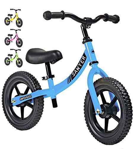 Sawyer - Bicicleta Sin Pedales Ultraligera - Niños 2, 3 y 4 Años (Azul)