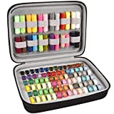Bobbin Holder, Bobbins Case Thread Organizer, Bobbins Spool Storage Box Holds Up to 84pcs Bobbins and 24pcs Sewing Thread Spools Compatible with Brother/Janome/Babylock/Singer (Box Only)