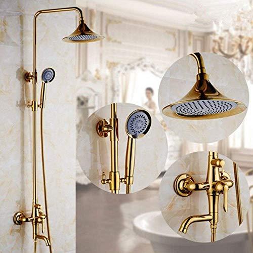 YLDXP Chromowana cała miedź bateria łazienka prysznic zestaw wannowy prysznic ładowany ręczny prysznic łazienka sprzedaż hurtowa piękna praktyczna wanna