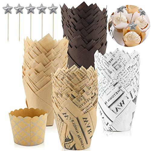 carta per muffin,Pirottini per cupcake tulipano,Cup cake in carta,Carta per cupcake per muffin,Pirottini Tulip,Cupcake tulipano,Pirottini per muffin,Pirottini in carta per matrimonio (100pcs)