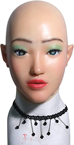 en venta en línea FHSGG FHSGG FHSGG Máscara Femenina para Crossdresser Cosplay Masquerade Realista Silicona transexual máscaras Hecho a Mano para transgénegro Halloween  buena calidad