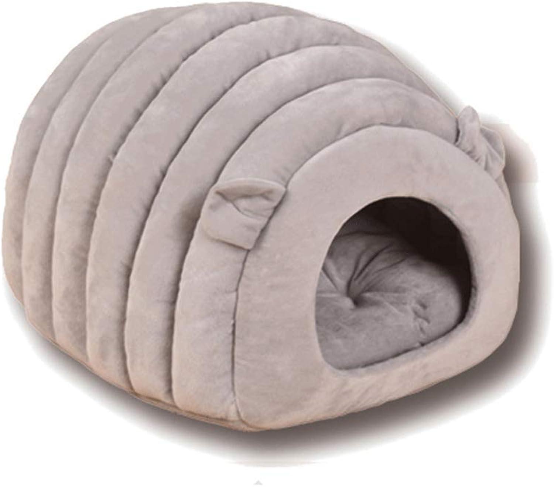 AXIANQI Sheep Nest Cat Litter Mat Pet Cat Litter Cat House Cat Bed Semiclosed Cat Sleeping Bag Four Seasons Universal A