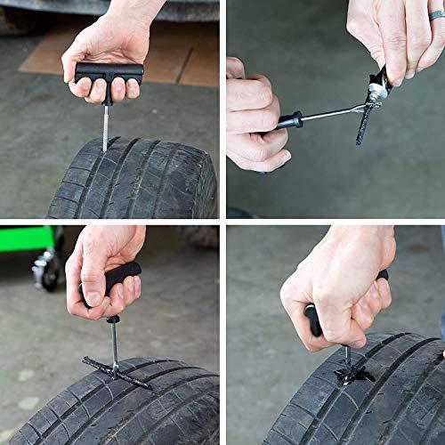 Tire Repair Automotive Accessories Tools - 6Pcs Tire Repair Plug Kit for Car, Bike, ATV, UTV, Wheelbarrow, Mower