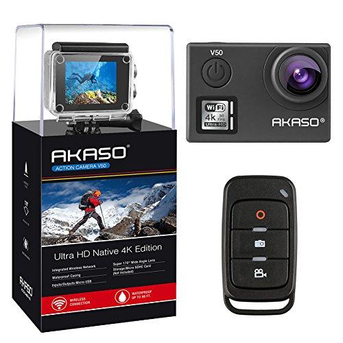 AKASO - Cámara de acción Ultra 4K/30fps 20MP V50 (renovada por el Fabricante)
