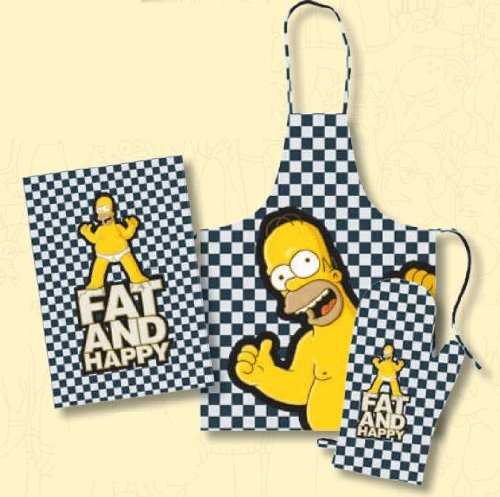 "Simpsons - Homer Barbecue Set ""Fat And Happy"""