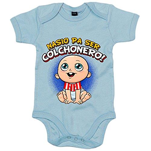 Body bebé nacido para ser Colchonero Atlético fútbol - Celeste, 12-18 meses