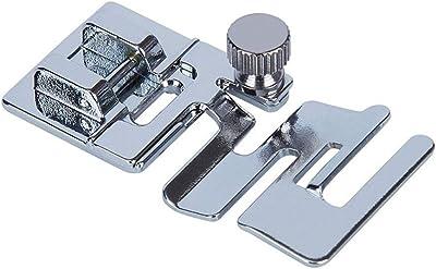 Flushzing 3pcs Set de 3 mm 4 mm 6 mm Curling prensatelas hogar Sewing Machine Tool Accesorios Doble Dobladillo del prensatelas