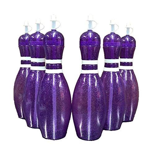 Große Bowling-Wasserflaschen, 91,4 ml 6 Pack violett