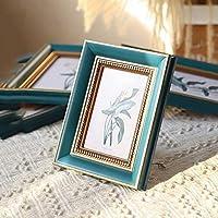 パーソナライズされたフォトフレーム 家族/周年記念写真、アート、絵画、結婚式の写真、手作りの展示、ベッドルームの写真フレーム写真サイズ5インチブラウン フォトフレーム (Color : NavyBlue, Size : Photosize6inch)