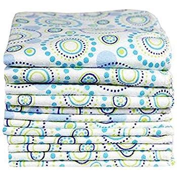 ImseVimse Organic Cotton Washable Reusable Baby Wipes 12 Pieces (Orbit)