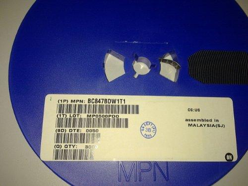 transistores dobles NPN BC847BDW1T1, 3000 unidades SMD, rollo.