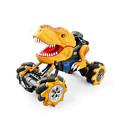 Lihgfw Super Big Four-Wheel Drive Dominio Dinosaurio Control Remoto Toy Amortiguador Amortiguador Escalada Off-Road Bigfoot Impermeable Rodillo Escalador Escalador Música Dinosaur Stunt Coche Boy Raci