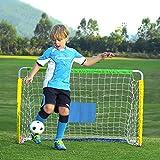 TETAKE But de Foot - Métal Pliable Cage de Foot Enfant Exterieur But de Football Jardin - 120 x 76 x 54cm