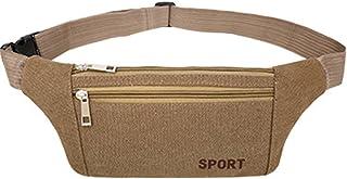 "LemonGirl Unisex 8.7""4.7""12.6""0.4"" Waist Bag Travel Fanny Pack Bag Wearproof Belt Waist Pack for Hiking Cycling Camping Hu..."