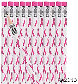 Breast Cancer Awareness Pencils (48 Pack) 7 1/2
