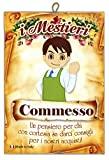 KUSTOM ART Quadro Quadretto Serie Arti Mestieri Professioni Caricatura con Pensiero Dedica Stampa Laser su Legno MDF Alta qualità Made in Italy - Idea Regalo - Commesso