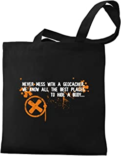 Eddany Never Mess with a Geocacher Canvas Tote Bag