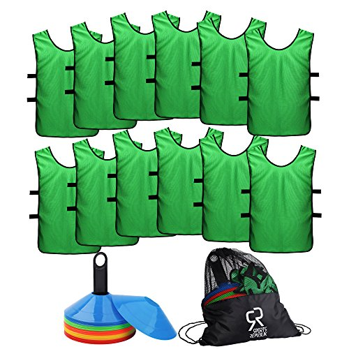 62pcs Cones & Soccer Jersey Pinnies