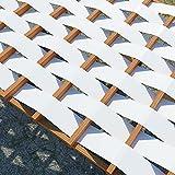 Fascia ombreggiante per pergola o gazebo in 100% Pvc, struttura con copertura a intreccio o onda - Varie Larghezze -Una quantità = 1 metro lineare