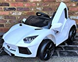 Kids Sports Car Roadster 12V Battery Electric Ride on Car with Remote Control - White