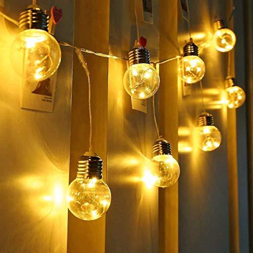LE Lichtsnoer gloeilampen buiten, 7,8M 25 LEDs G45 lichtketting met stekker, 4,5 W warmwit lichtsnoer voor tuin, feest, bruiloft, balkon, huisdecoratie, IP44 waterdicht