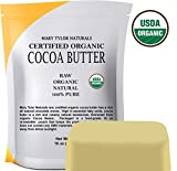 Organic Cocoa Butter (1 lb), USDA Certified by Mary Tylor Naturals Raw Unrefined, Non-Deodorized,...
