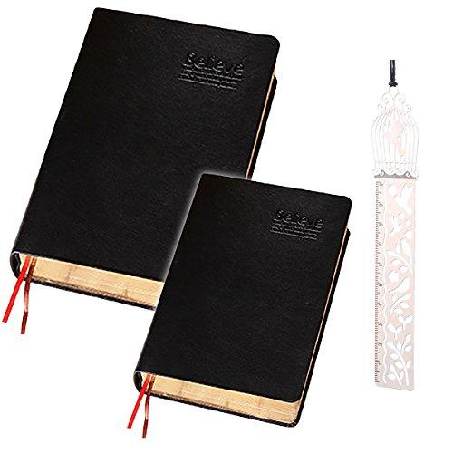 sac taske アンティーク ノート 聖書風 手帳 厚手 レトロ 重厚感 クラシック 日記帳 (B6 240枚)