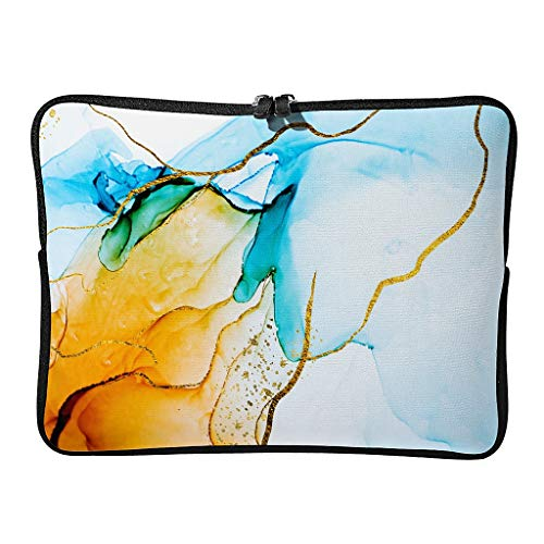 Normal Marmor Textur Tinte Laptoptaschen Modern Leicht - Moderner Stil Tablet-Hüllen Geeignet für Geschäft white2 17 Zoll