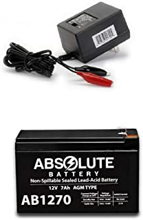 New AB1270 12V 7AH Battery Compatible & Aqua Vu Marcum Vexilar & Charger